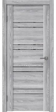 Межкомнатная дверь, GM018 (экошпон ясень грей, зеркало тонированное)