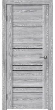 Межкомнатная дверь, GM018 (экошпон ясень грей, лакобель серый)