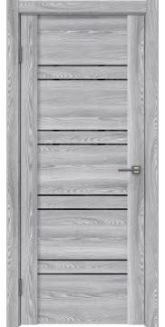 Межкомнатная дверь, GM018 (экошпон ясень грей, лакобель черный)
