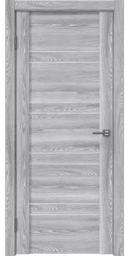 Межкомнатная дверь, GM018 (экошпон ясень грей, лакобель белый)