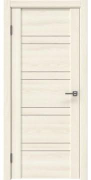 Межкомнатная дверь GM018 (экошпон «ясень крем» / лакобель бежевый) — 0369