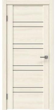 Межкомнатная дверь GM018 (экошпон «ясень крем» / лакобель серый) — 0370