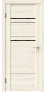 Межкомнатная дверь GM018 (экошпон «ясень крем» / лакобель черный) — 0371