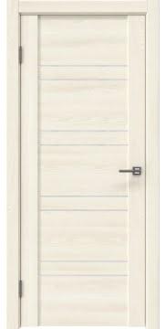 Межкомнатная дверь GM018 (экошпон «ясень крем» / лакобель белый) — 0366