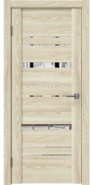 Межкомнатная дверь GM019 (экошпон «клен экрю» / зеркало) — 0381
