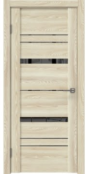 Межкомнатная дверь, GM019 (экошпон клен экрю, зеркало тонированное)