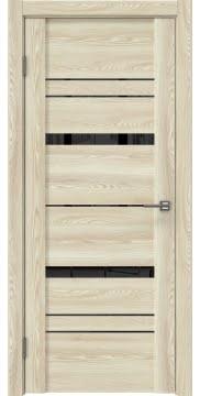 Межкомнатная дверь, GM019 (экошпон клен экрю, лакобель черный)