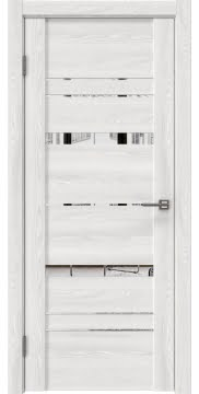 Межкомнатная дверь GM019 (экошпон «ясень айс» / зеркало)