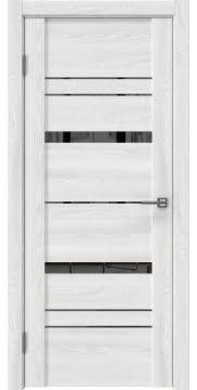 Межкомнатная дверь, GM019 (экошпон ясень айс, зеркало тонированное)
