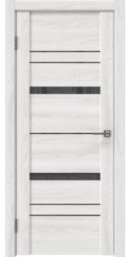 Межкомнатная дверь, GM019 (экошпон ясень айс, лакобель серый)