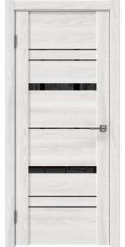 Межкомнатная дверь, GM019 (экошпон ясень айс, лакобель черный)