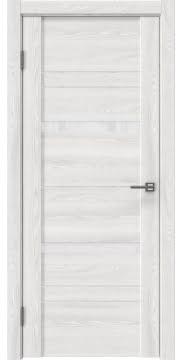Межкомнатная дверь, GM019 (экошпон ясень айс, лакобель белый)