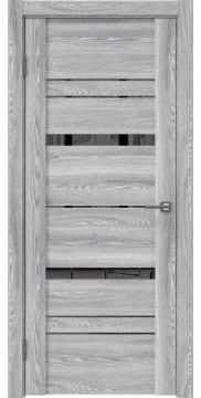 Межкомнатная дверь, GM019 (экошпон ясень грей, зеркало тонированное)
