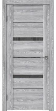 Межкомнатная дверь, GM019 (экошпон ясень грей, лакобель серый)