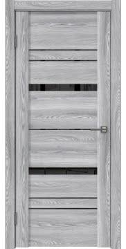 Межкомнатная дверь GM019 (экошпон «ясень грей» / лакобель черный) — 0394