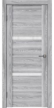 Межкомнатная дверь, GM019 (экошпон ясень грей, лакобель белый)