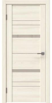 Межкомнатная дверь, GM019 (экошпон ясень крем, лакобель бежевый)