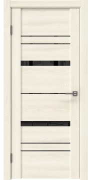 Межкомнатная дверь, GM019 (экошпон ясень крем, лакобель черный)