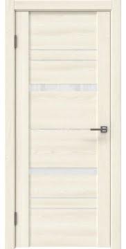 Межкомнатная дверь GM019 (экошпон «ясень крем» / лакобель белый) — 0395