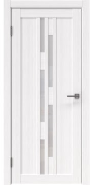 Межкомнатная дверь, RM001 (экошпон белый FL, лакобель белый)