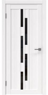 Межкомнатная дверь RM001 (экошпон «белый FL», лакобель черный) — 9187