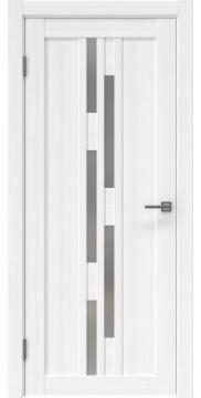 Межкомнатная дверь, RM001 (экошпон белый FL, матовое стекло)