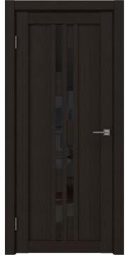 Межкомнатная дверь, RM001 (экошпон венге FL, лакобель черный)
