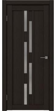 Межкомнатная дверь, RM001 (экошпон венге FL, матовое стекло)