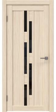 Межкомнатная дверь RM001 (экошпон «беленый дуб FL», лакобель черный) — 9193