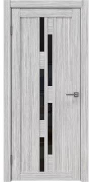 Межкомнатная дверь RM001 (экошпон «серый дуб FL», лакобель черный) — 9196