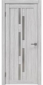 Межкомнатная дверь, RM001 (экошпон серый дуб FL, матовое стекло)