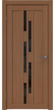 Межкомнатная дверь, RM001 (экошпон орех FL, лакобель черный)