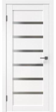 Межкомнатная дверь RM002 (экошпон белый / матовое стекло)
