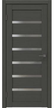 Межкомнатная дверь, RM002 (экошпон грей, матовое стекло)