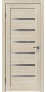 Межкомнатная дверь, RM002 (экошпон капучино, матовое стекло)