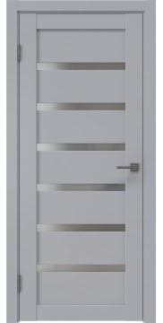 Межкомнатная дверь RM002 (экошпон серый / матовое стекло) — 0775