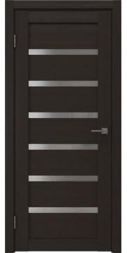 Межкомнатная дверь, RM002 (экошпон венге, матовое стекло)