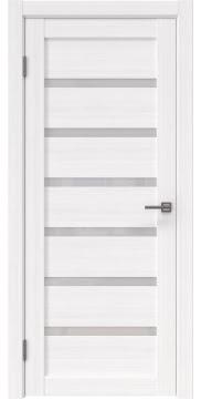 Межкомнатная дверь, RM002 (экошпон белый FL, лакобель белый)