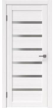Межкомнатная дверь RM002 (экошпон «белый FL», матовое стекло) — 9058