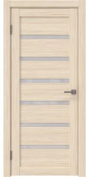Межкомнатная дверь, RM002 (экошпон беленый дуб FL, лакобель белый)