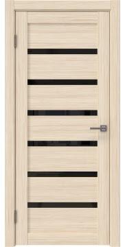 Межкомнатная дверь RM002 (экошпон «беленый дуб FL», лакобель черный) — 9063