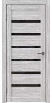 Межкомнатная дверь RM002 (экошпон «серый дуб FL», лакобель черный) — 9066