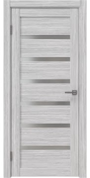 Межкомнатная дверь RM002 (экошпон «серый дуб FL», матовое стекло) — 9067