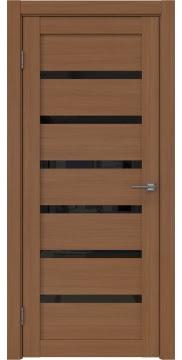 Межкомнатная дверь, RM002 (экошпон орех FL, лакобель черный)