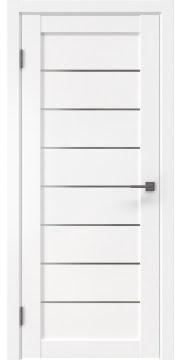 Межкомнатная дверь, RM003 (экошпон белый, матовое стекло)