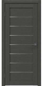 Межкомнатная дверь, RM003 (экошпон грей, матовое стекло)
