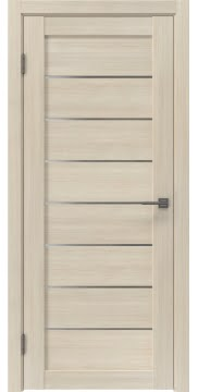 Царговая дверь, RM003 (экошпон капучино, матовое стекло)