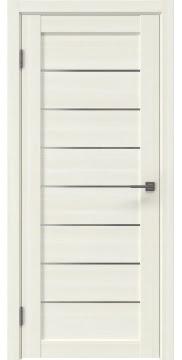 Межкомнатная дверь, RM003 (экошпон сандал, матовое стекло)