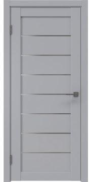 Межкомнатная дверь, RM003 (экошпон серый, матовое стекло)
