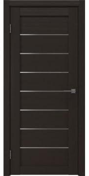 Межкомнатная дверь, RM003 (экошпон венге, матовое стекло)